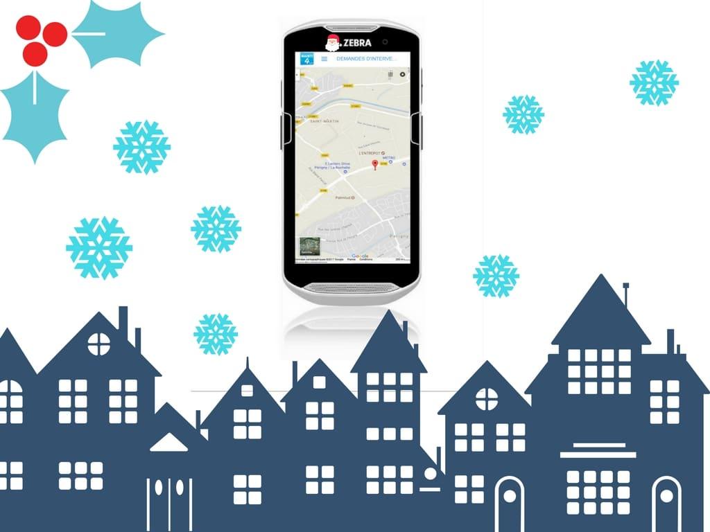 Géolocalisation sur Smartphone du Père-Noël
